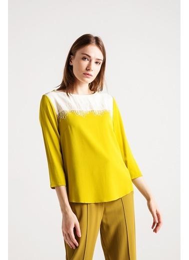 Love'n Fashion Paris Nakış Detaylı Bluz Renkli